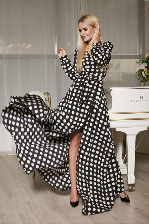 1243445322ac87a Платье макси в горох: купить оптом в Украине | Цена 915 грн. Модель: 1706