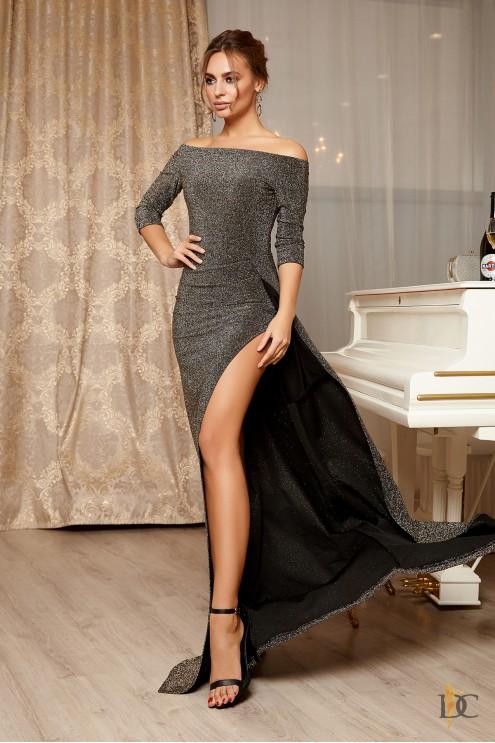 55b52e64890 Изысканное вечернее платье из люрекса  купить оптом в Украине