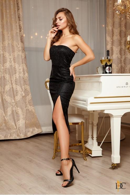 0ca4fe48377 Шикарное вечернее платье из мерцающего люрекса  купить оптом в ...