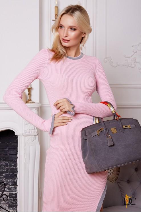 стильное вязаное платье с лампасами купить оптом в украине цена