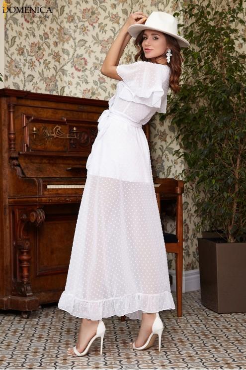 28ac5289c69 Шифоновое длинное платье с запахом  купить оптом в Украине