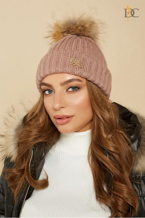 теплая вязаная шапка купить оптом в украине цена 315 грн модель 67