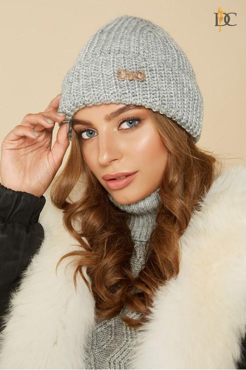 модная вязаная шапка купить оптом в украине цена 225 грн модель 66
