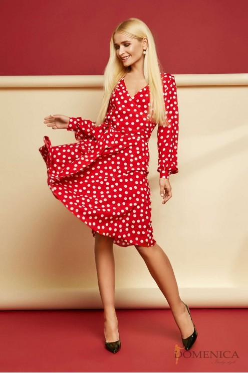 2562cbcd960 Скромное платье-миди с длинным рукавом  купить оптом в Украине ...