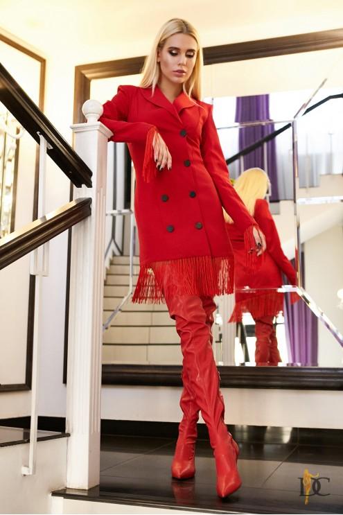 7276312474a Эффектное платье-пиджак с оригинальным декором  купить оптом в ...