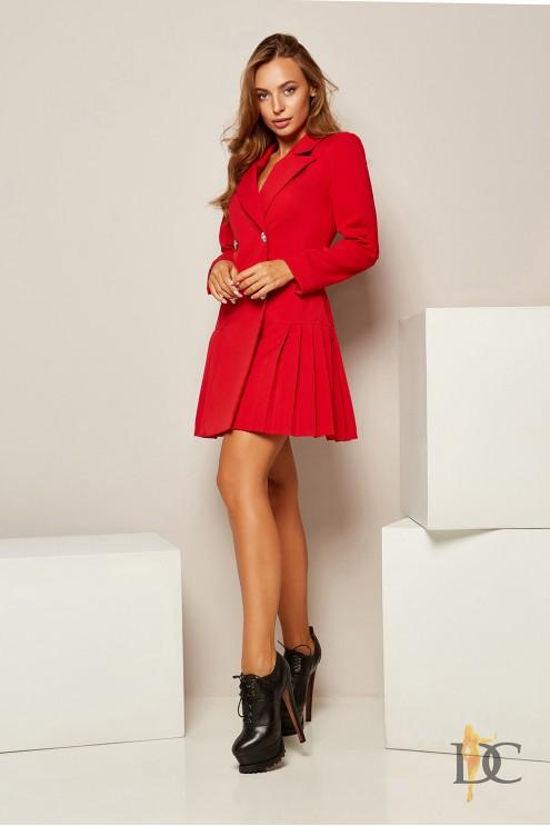 7ceb47cd6cd Эффектное платье-пиджак из костюмной ткани Барби  купить оптом в ...