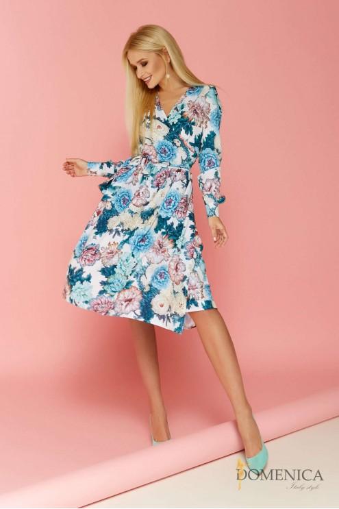 1126e6e3d36e6cf Платье миди с цветочным принтом: купить оптом в Украине | Цена 945 грн.  Модель: 2152
