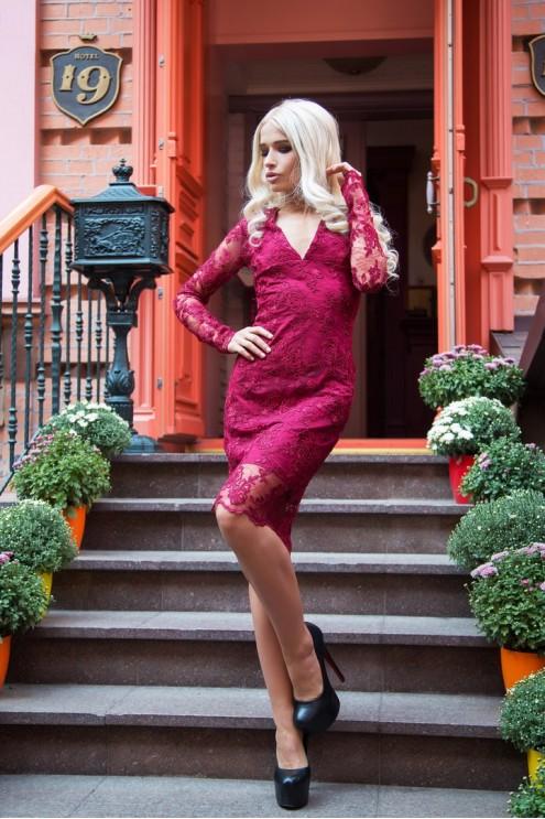 23962cd0a23 Шикарное вечернее платье из дорогого кружева  купить оптом в Украине ...