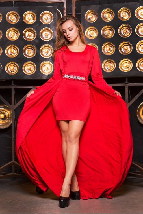 96252b05e58 Красивое платье с накидкой  купить оптом в Украине