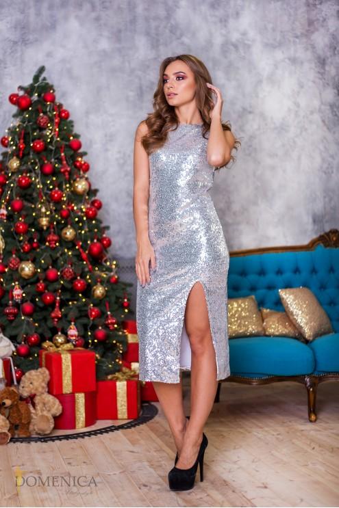 0a0b4805ba7 Роскошное кокетливое платье с пайетками  купить оптом в Украине ...