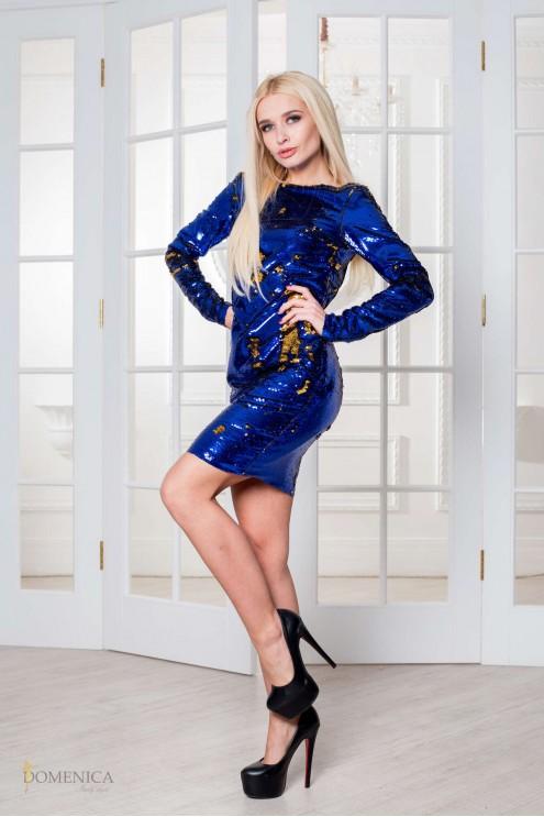 90f9ed64127 Роскошное облегающее платье-мини с открытой спиной и пайетками ...