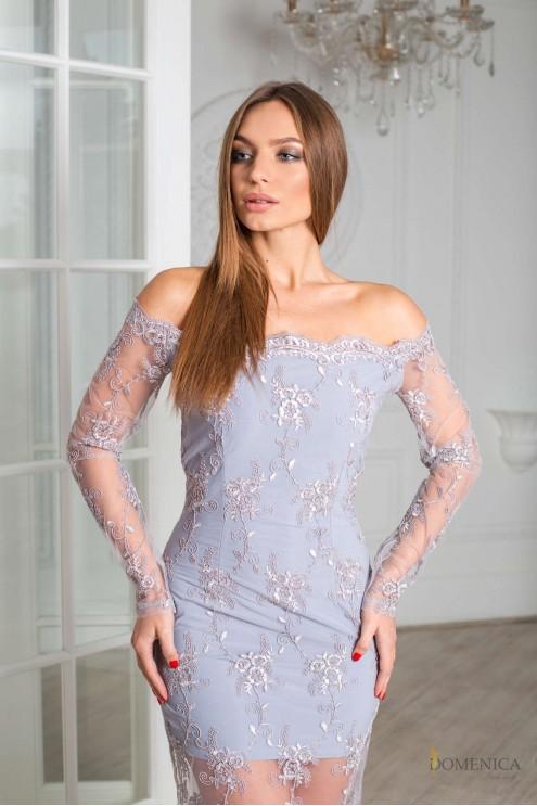 94348460dc6 Изящное вечернее платье из дорогого французского кружева  купить ...