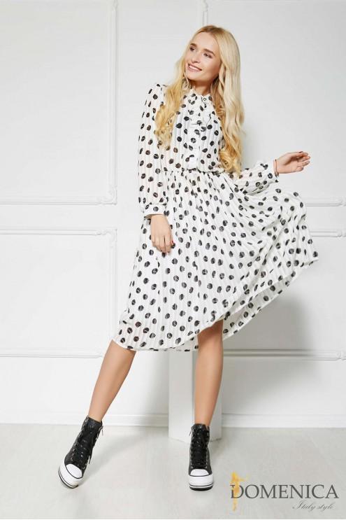 1234d7ae9050d58 Женственное легкое платье с принтом крупный горох: купить оптом в ...