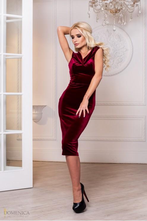 da77142adc0 Элегантное коктейльное платье-миди  купить оптом в Украине