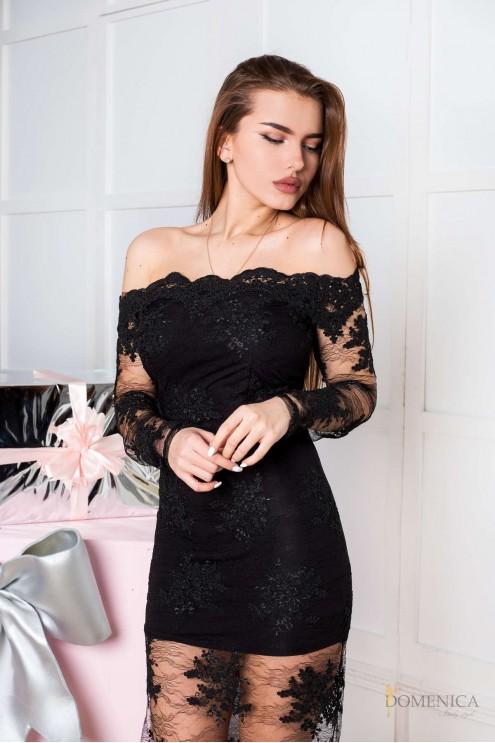 2b6af44f48d Изящное вечернее платье из дорогого кружева  купить оптом в Украине ...