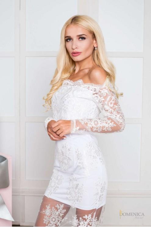 07ad1a88efd Эксклюзивное изящное платье из французского кружева  купить оптом в ...